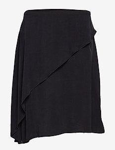 Sand washed draped skirt - BLACK