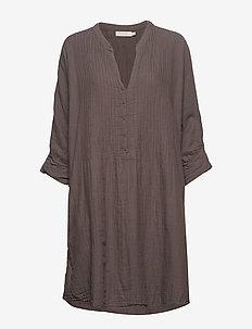 Cotton pintuck OS dress - STORM