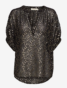Starburst blouse - BLACK