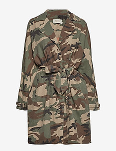 Camo trench coat - CAMOUFLAGE
