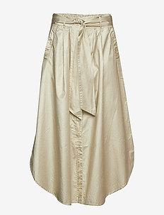 Foil crease skirt - ANTIQUE GOLD