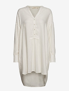 Glitter line oversize shirt - COPPER/OFF-WHITE