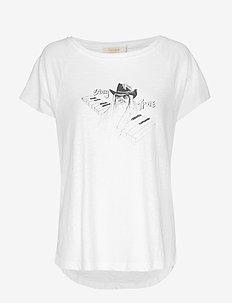 Stay true boxy t shirt - WHITE/BLACK