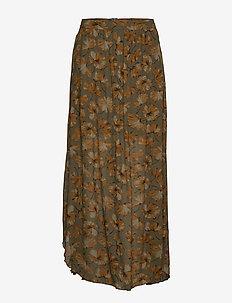 Flower print skirt - SLATE