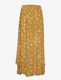 Flower print skirt - YELLOW