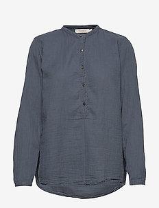 Cotton basic shirt - DENIM
