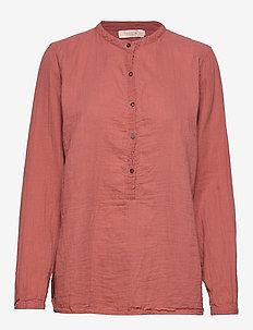 Cotton basic shirt - RUST