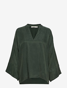 Solid matte tunic - FOREST GREEN