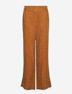 Solid matte wide leg pant - CINNAMON