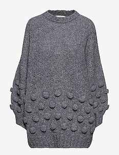 Bubble knit volume sweater - GREY