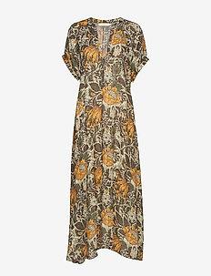 Wallflower long dress - BURNT ORANGE