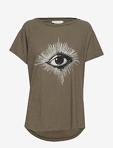 Eye print T-shirt - GREY