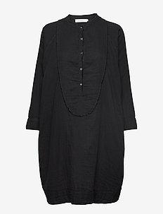 Double cotton OS dress - BLACK