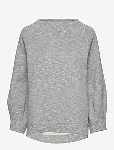 Darted sweat top - GREY MELANGE