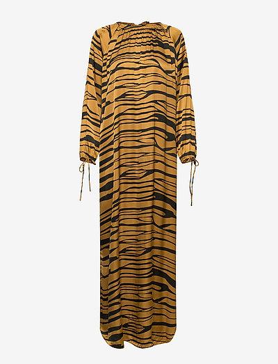Addi - maxi dresses - cognac/black
