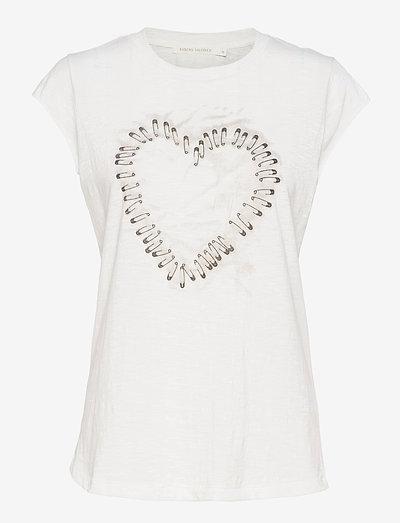 Nella - t-shirt & tops - off white/faded black
