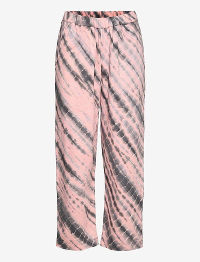 Lana - casual trousers - pink/grey combo