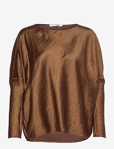 Mai - long sleeved blouses - brown