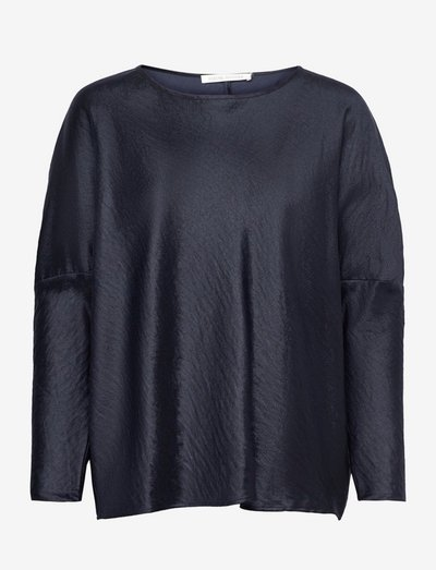 Mai - long sleeved blouses - navy