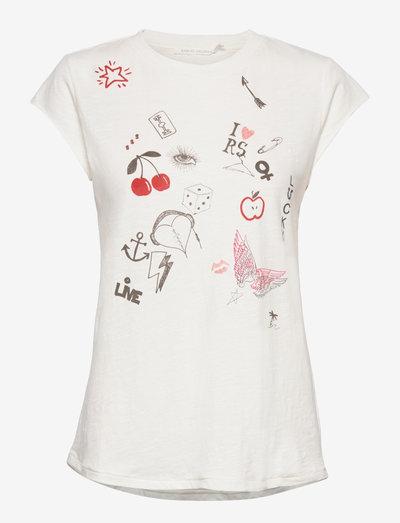 Nella - t-shirt & tops - off white