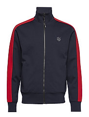 CLUB TRACK JACKET - NAVY/RED