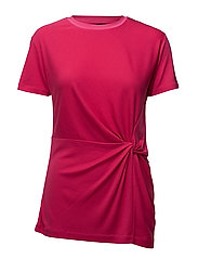 MARINA DRAPE TEE - BRIGHT ROSE
