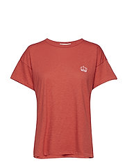 EMBROIDERED CROWN VINTAGE CREW - WASHED RED