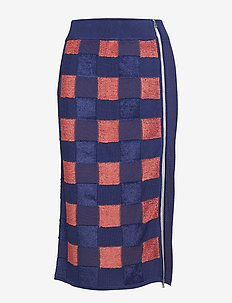 RIDLEY SKIRT - BLUE/CORAL