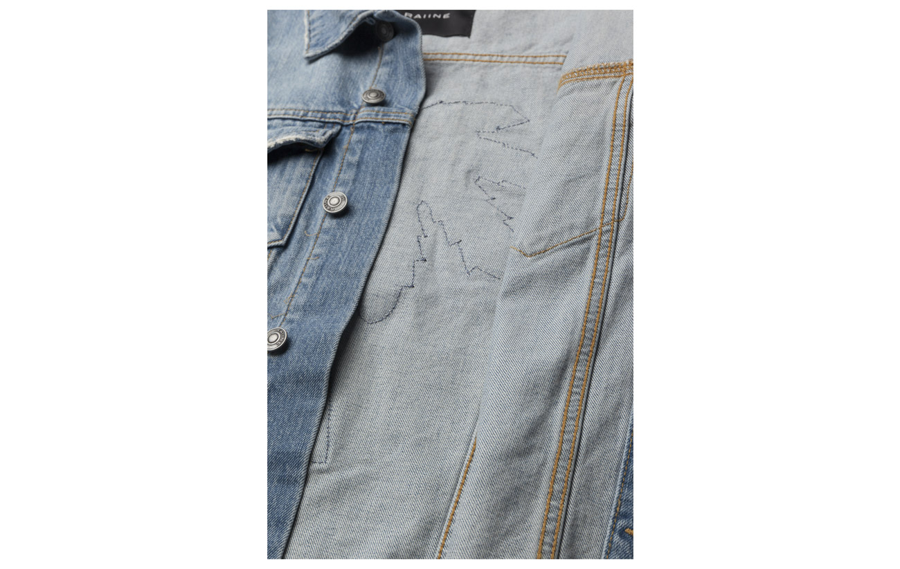 Raiine Blue 98 Elastane Denim Jacket Arcadia Coton 2 UUwqHf7vx