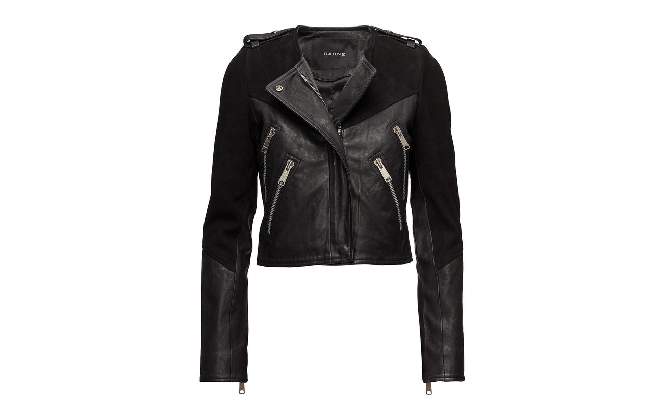 Jacket 30 70 Goatsuede Leather Lambleather Black Métal Clarita Raiine E7qCAU