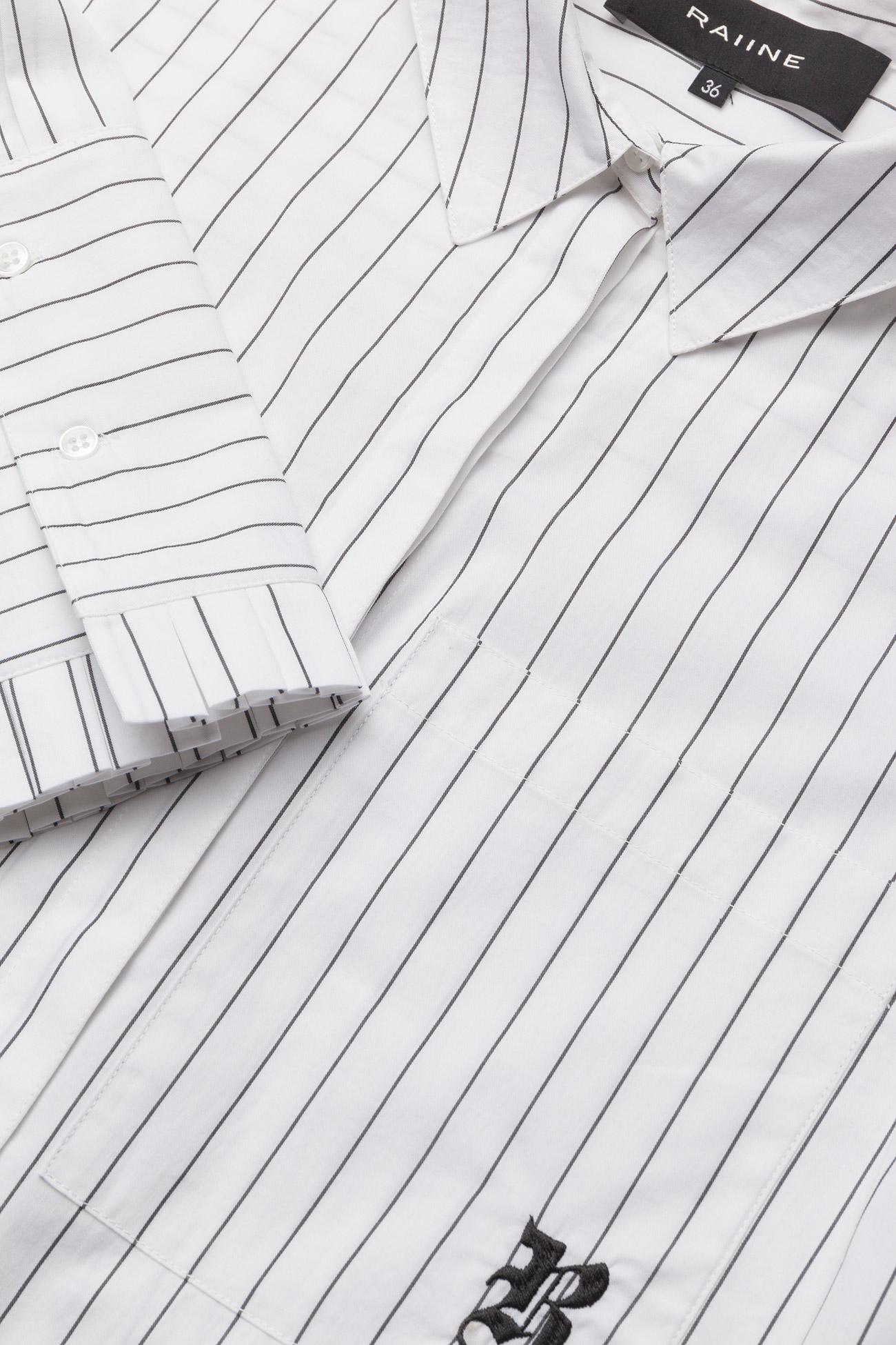Raiine YATES SHIRT - Bluzki & Koszule WHITE/BLACK STRIPE - Kobiety Odzież.