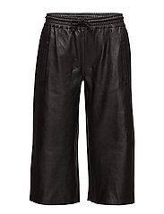 CLOUD LEATHER PANTS - BLACK