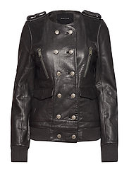 TAOS LEATHER JACKET - BLACK