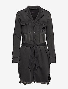 BIXBY SHIRT DRESS - CHARCOAL