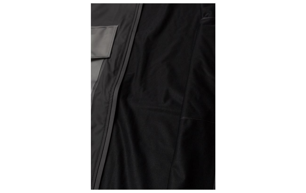 Jacket Rains Polyester 50 Warrant 01 Polyurethane Black pAqAvFnB