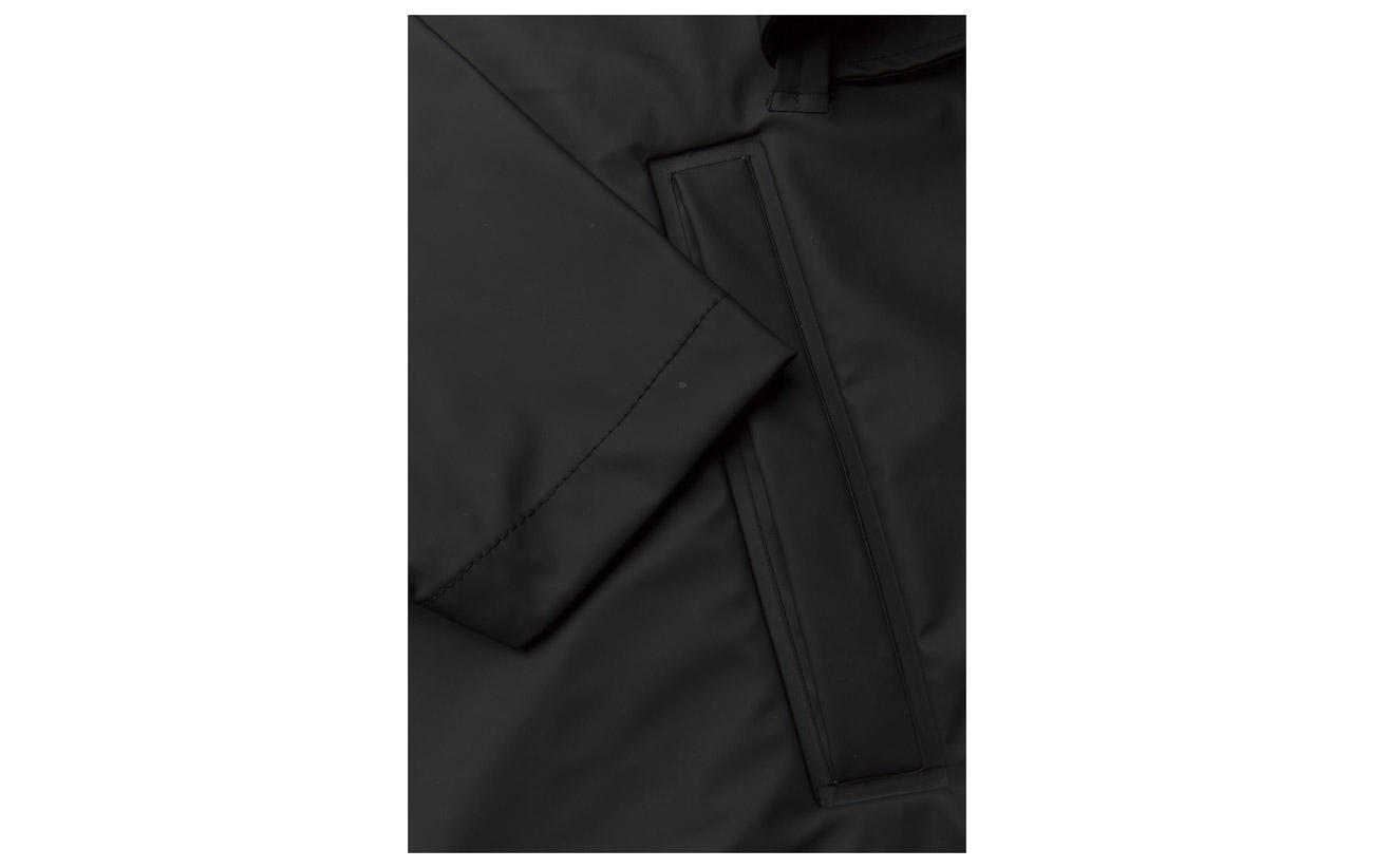Polyester Black Overcoat 01 50 Rains Polyurethan qpU7F