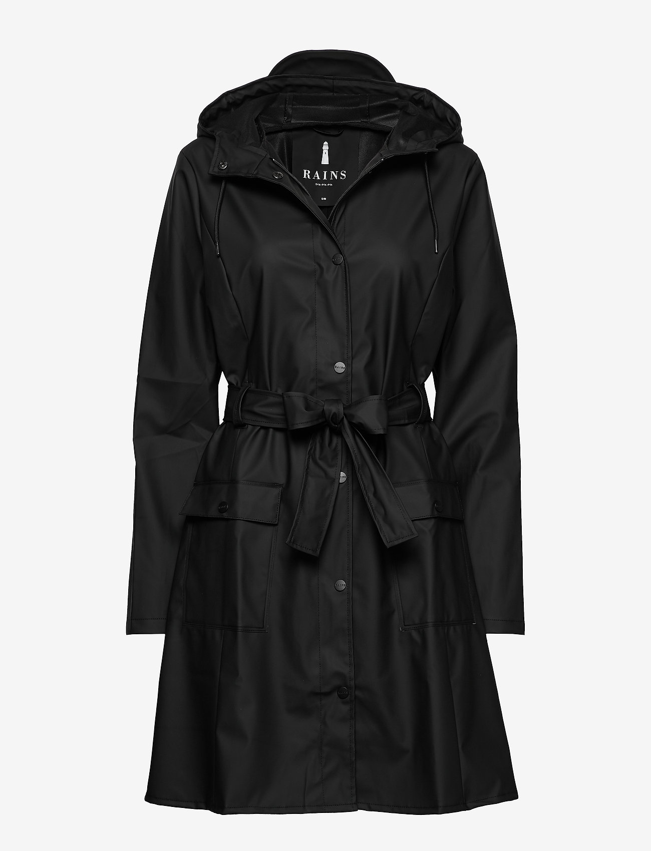Rains - Curve Jacket - regnjakker - 01 black - 1