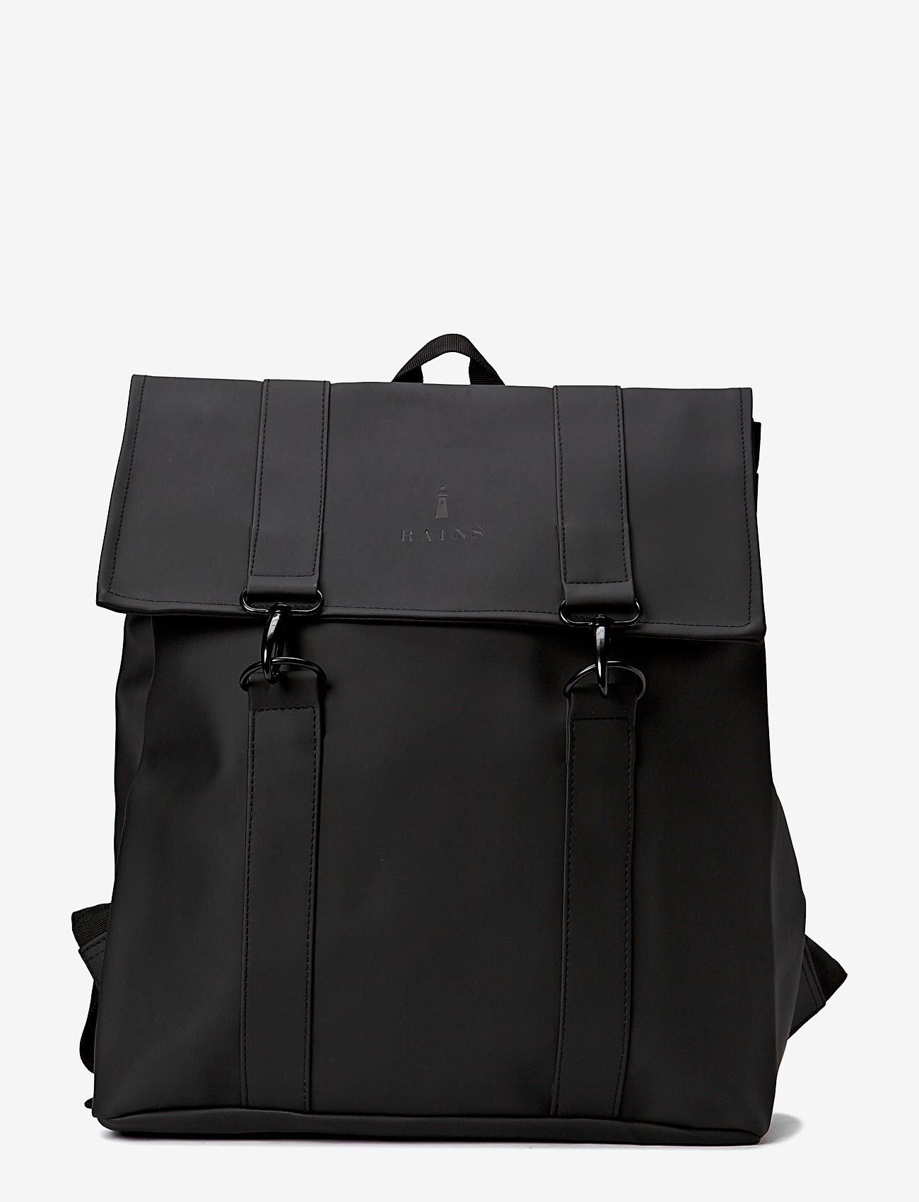 Rains - Msn Bag - rucksäcke - 01 black - 0