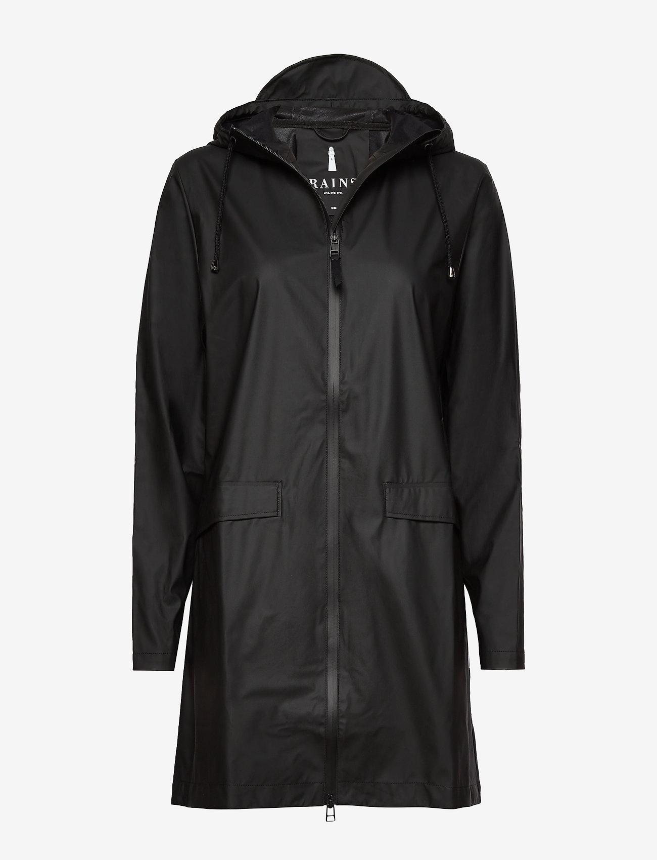 Rains - W Coat - regenbekleidung - 01 black - 1