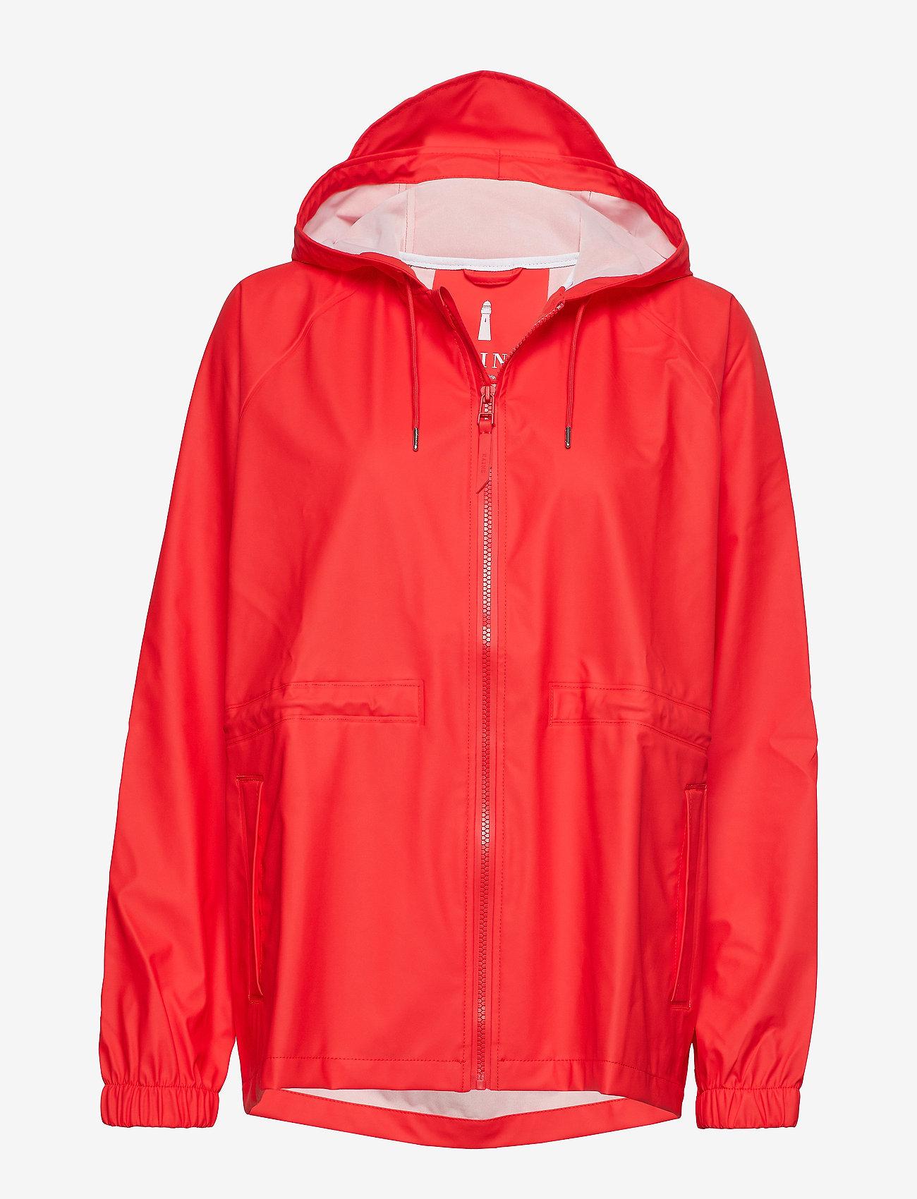 Rains - W Jacket - regenbekleidung - red - 0