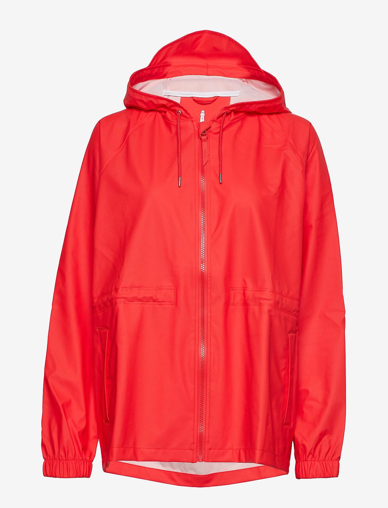 Rains - W Jacket - regenbekleidung - red - 1