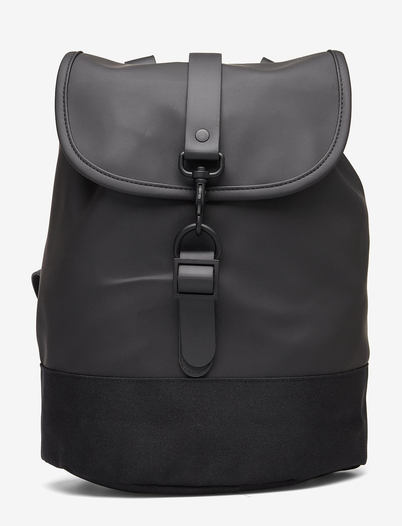 Rains - Drawstring Backpack - backpacks - 01 black - 0