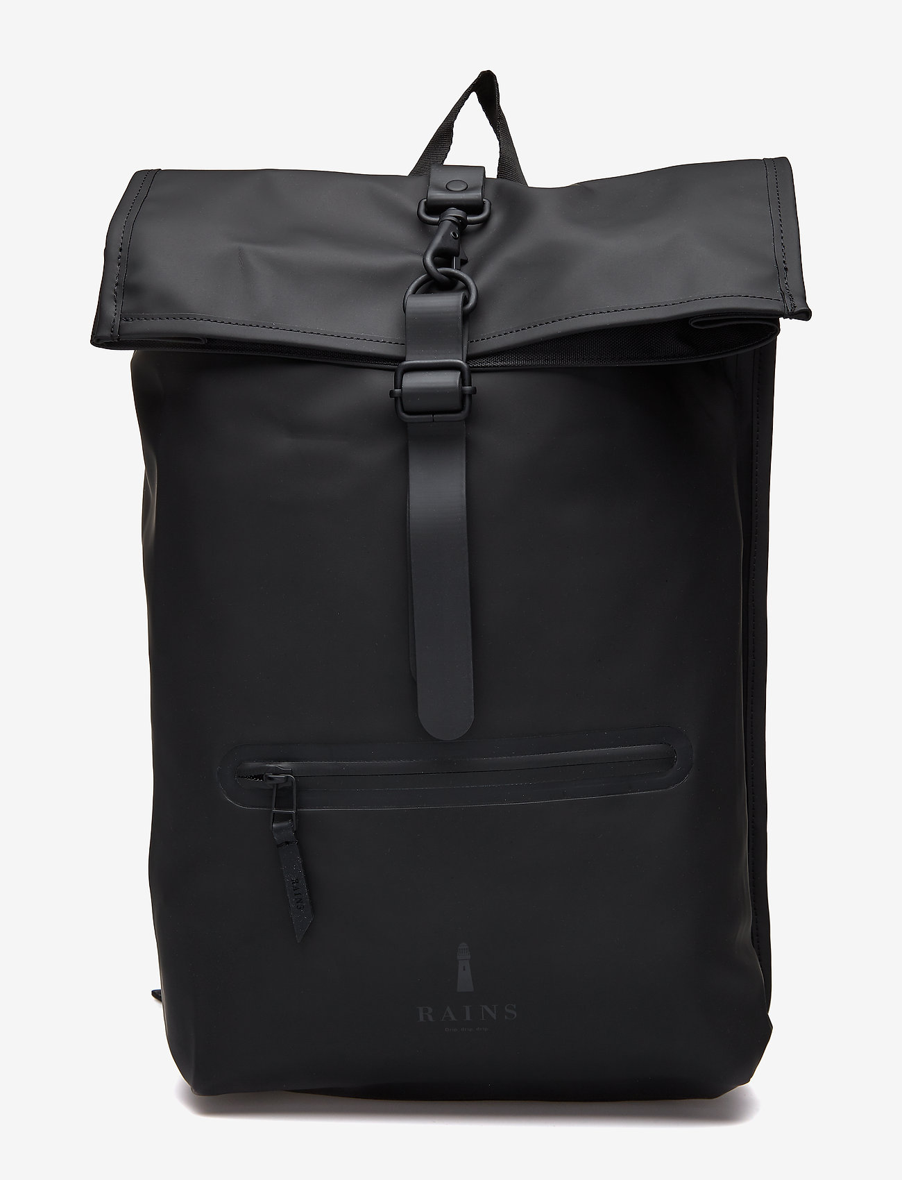 Rains - Rolltop Rucksack - sacs à dos - 01 black - 0