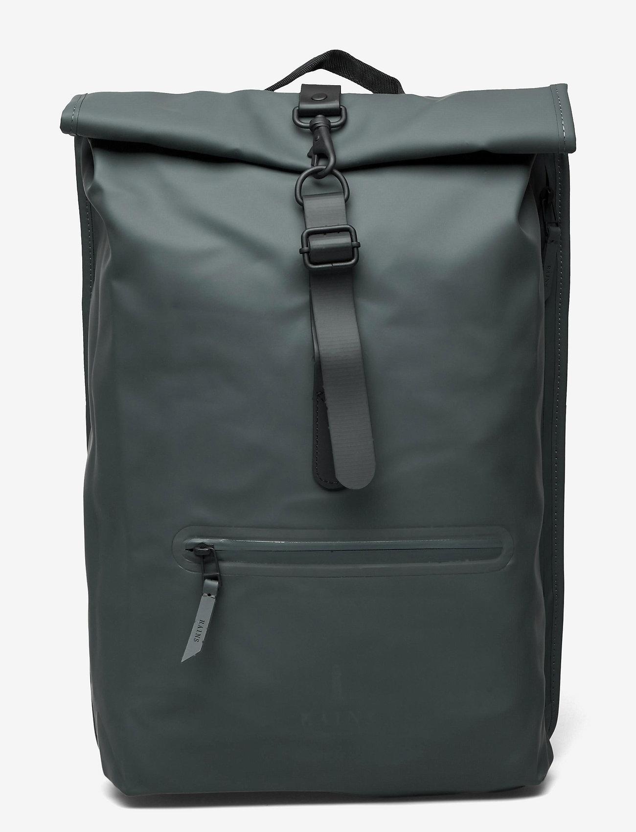 Rains - Rolltop Rucksack - sacs à dos - 05 slate - 0