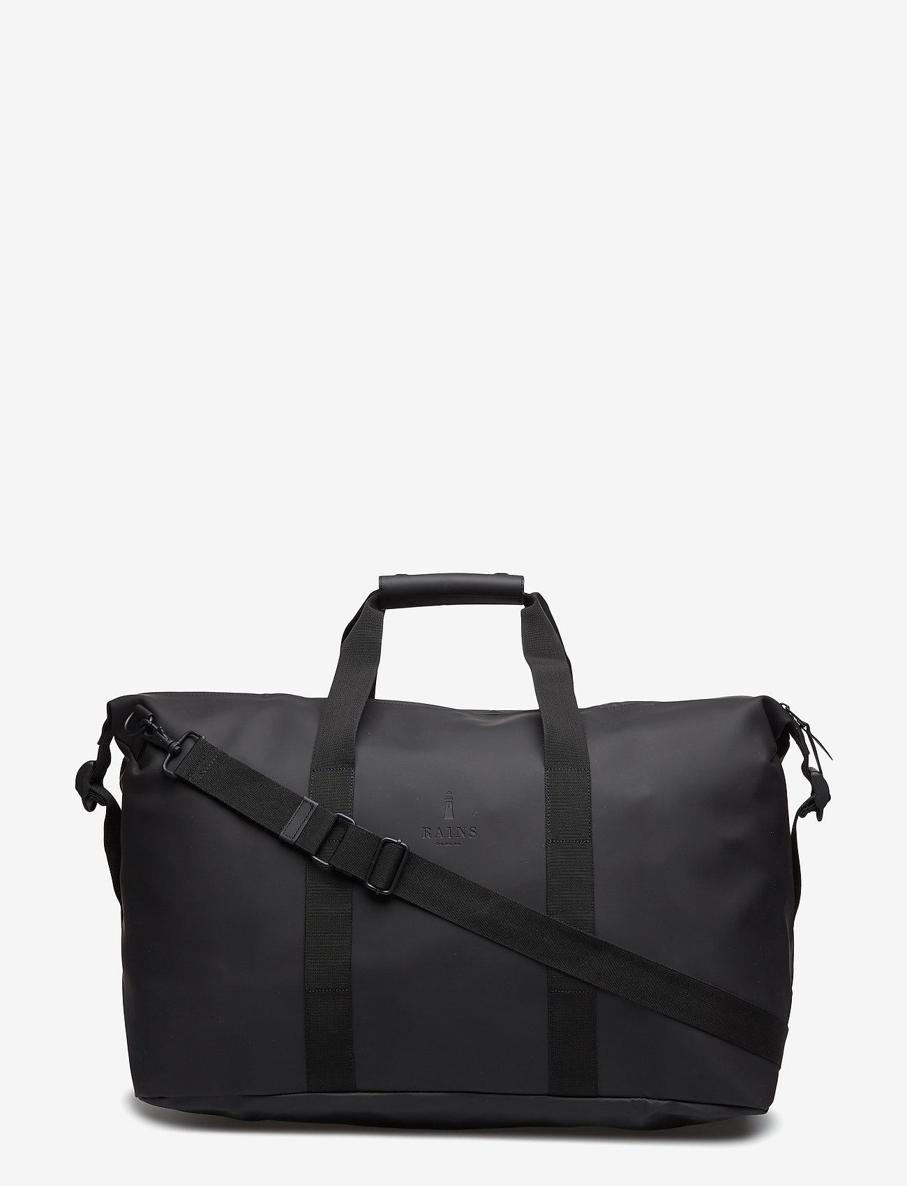 Rains - Weekend Bag - matkalaukut - 01 black - 0