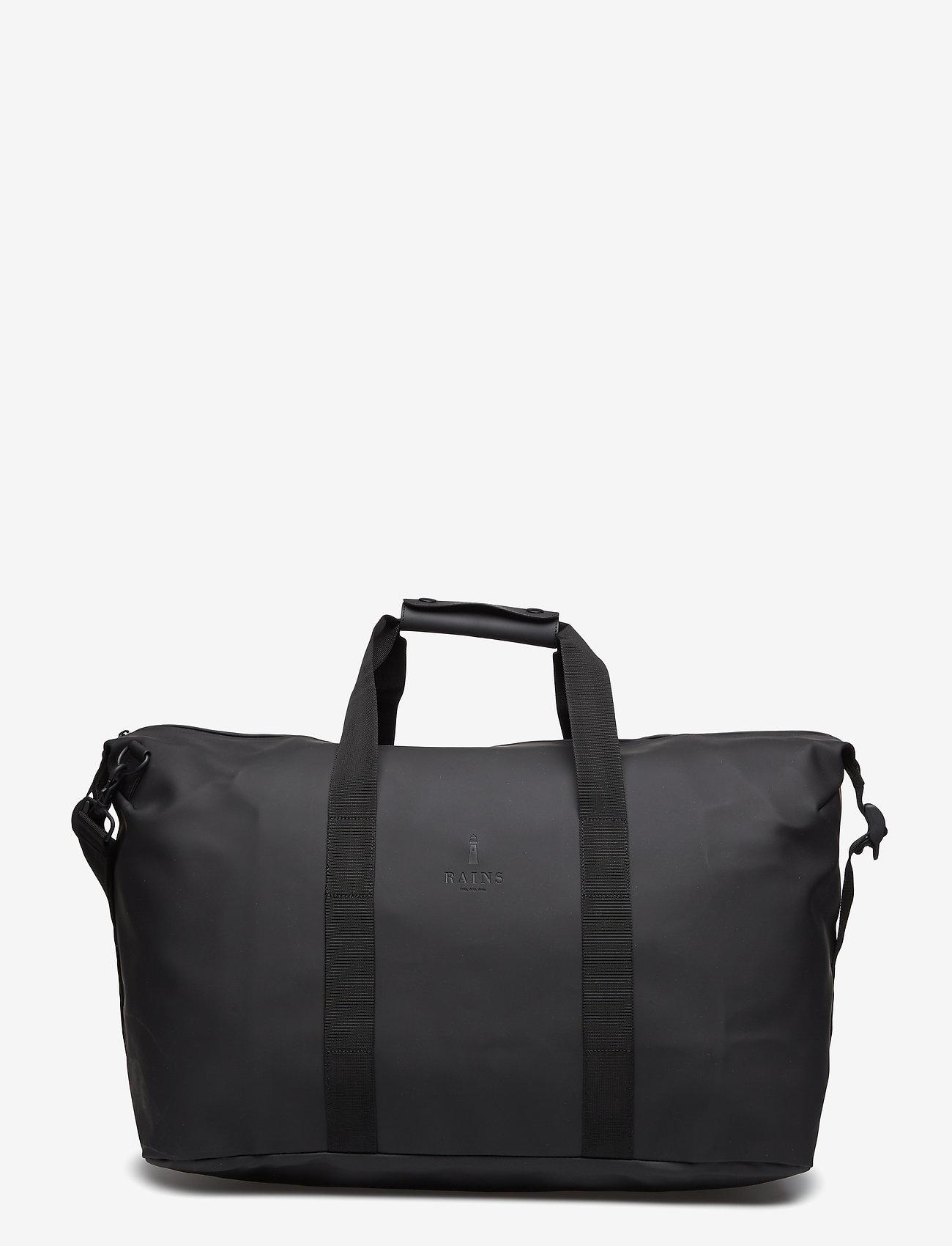 Rains - Weekend Bag - matkalaukut - 01 black - 1