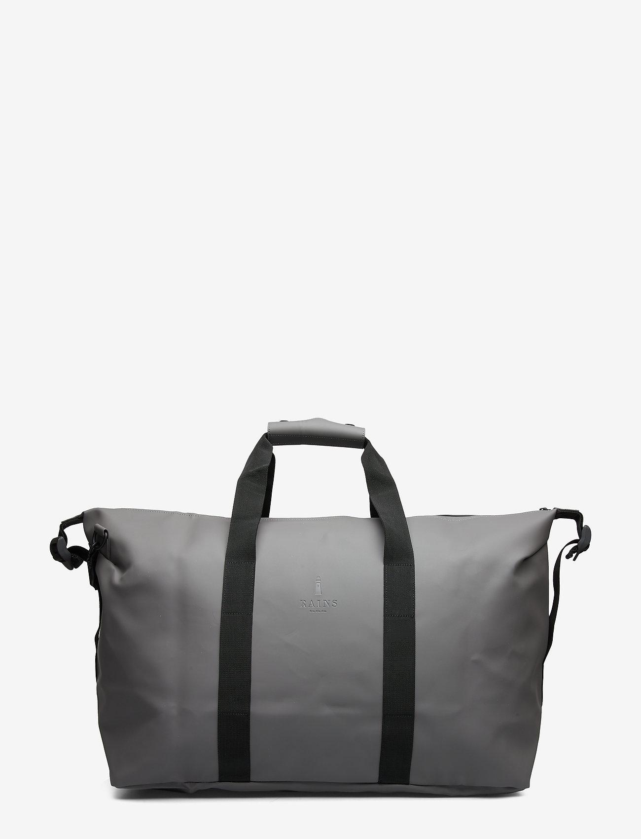 Rains - Weekend Bag - matkalaukut - charcoal - 1