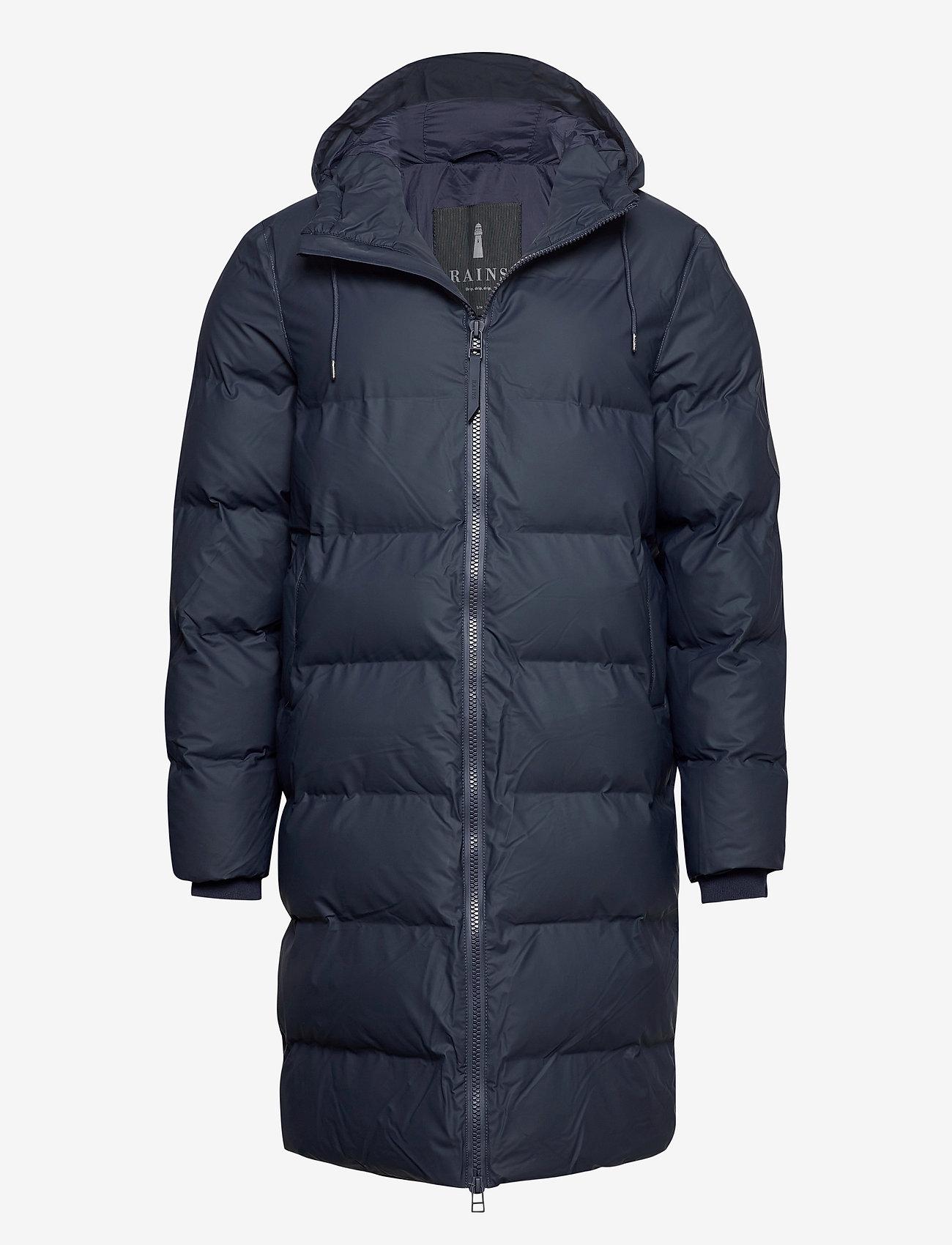Rains - Long Puffer Jacket - fodrade jackor - 02 blue - 1