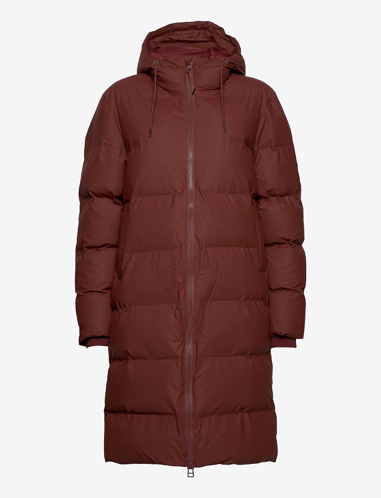 Rains - Long Puffer Jacket - fodrade jackor - 11 maroon - 1