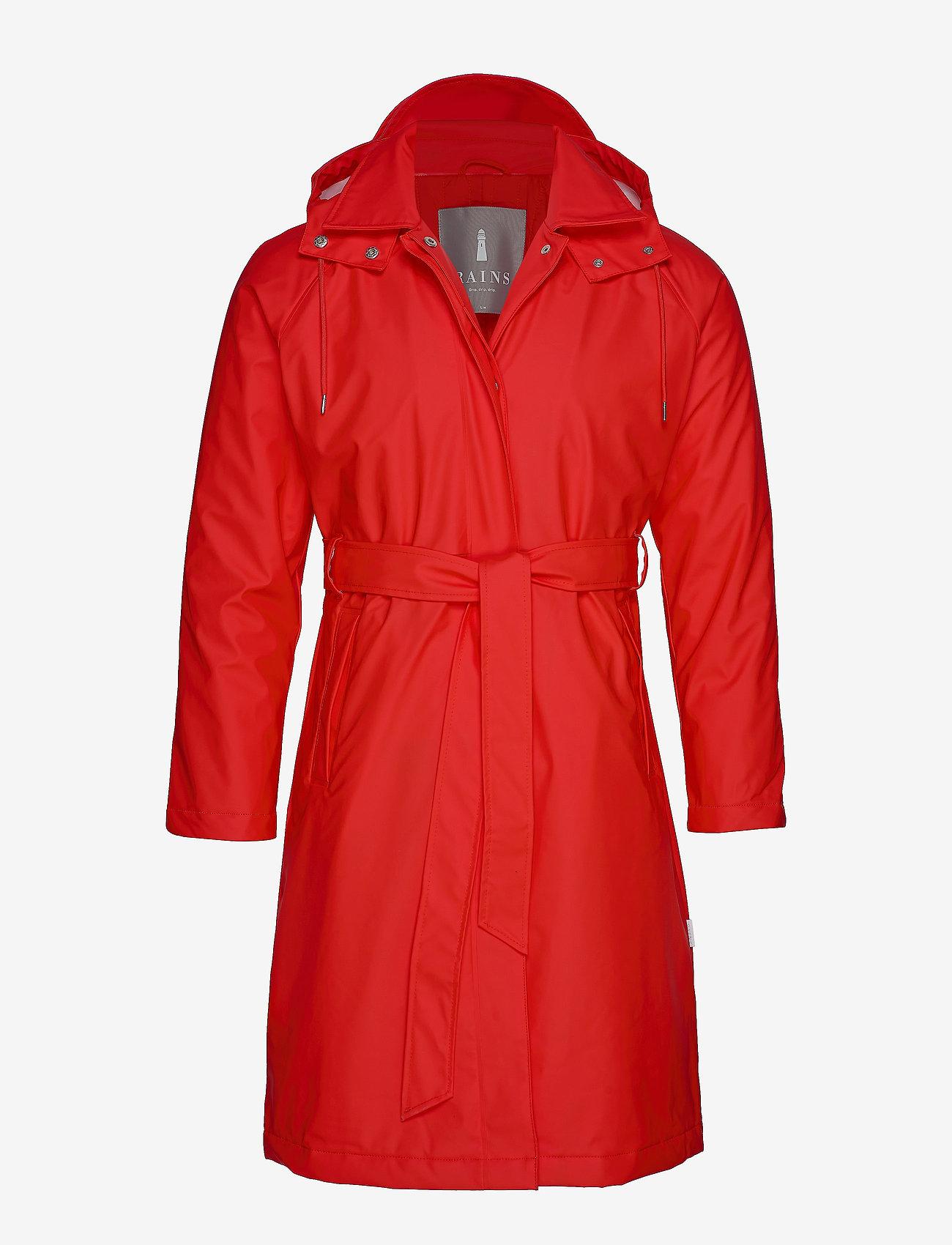 Rains - W Trench Coat - regenbekleidung - red - 0